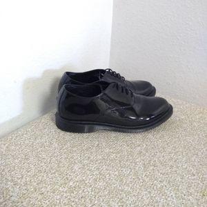 Dr. Martens Bennett Black Patent Leather Shoes